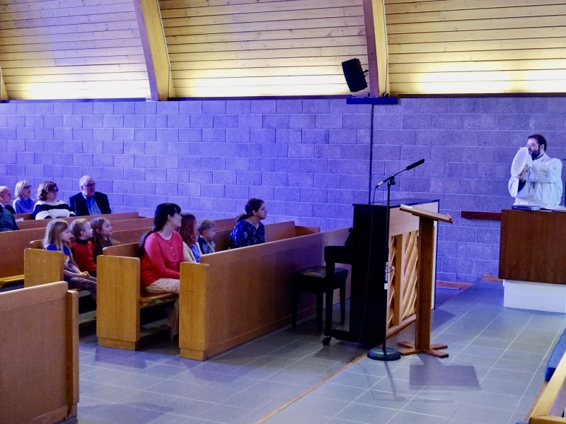 "Children's Sermon, ""Baptism of Jesus"""