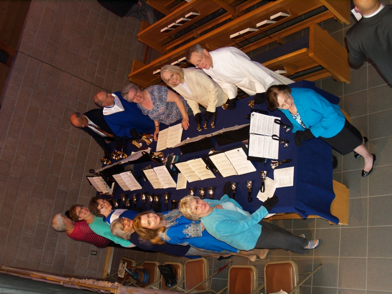 2014-04-20 Easter Service P4208030 Bell Choir