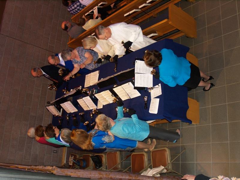 2014-04-20 Easter Service P4208031 Bell Choir