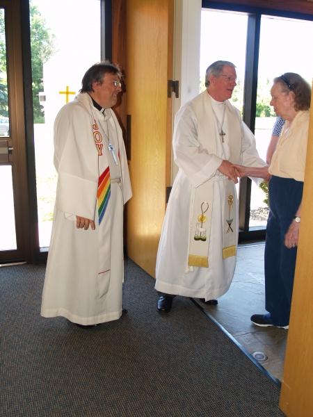 2014-06-15 CLC Pastor Charles Gustafson 35th Ordination anniv serv with RevTimothy Yeadon P6158444