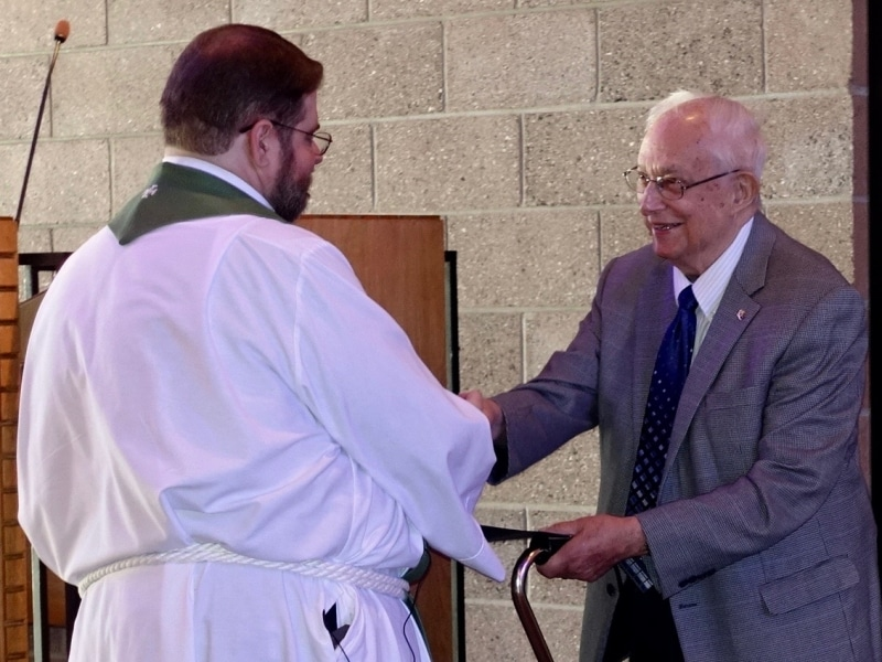 2018-07-08 NED recogition of Pastor Nuechterlein for 64 yrs of ministry DSC02399