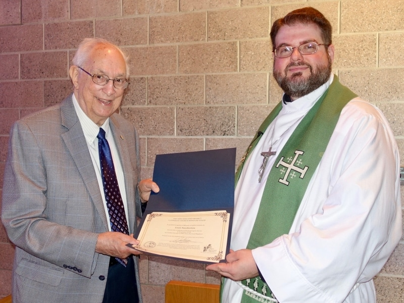 2018-07-08 NED recogition of Pastor Nuechterlein for 64 yrs of ministry DSC02404